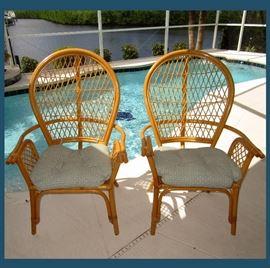 Pair of Very Nice Rattan Chairs