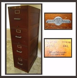 Vintage Globe Wernicke Filing Cabinet