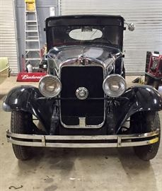 1930 Plymouth business coupe navy blue. 19,000 original miles. Includes extra motor and wheels. Nice gray tweed interior. In excellent condition. Has original maintenance logs including oil changes and servicing from the original owner. Three owner car.