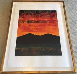"""Dan Namingha, b.1950-, """" Santa Fe Dawn"""", Lithograph, 33/100,"""