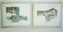Alvar, Simon b. 1935 Two Lithographs