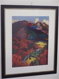 Barbara Zaring Landscape Lithograph