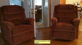 La-z-boy electric lift chair recliners.