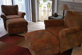 Chairs and ottomans from Rowe