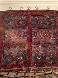 Antique Turkish Carpet Handmade Double Saddlebag for Camel