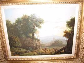 "Richard Peterson original oil on board  ""LANDSCAPE WITH SHEPHERD""  18"" X 24"""
