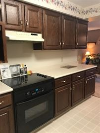 Range, hood and wood cabinets! Great pricing!