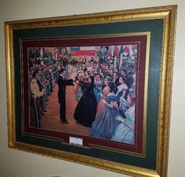 """William A. Maughan Signed Litho """"The Confederate Ball"""" Gone With The Wind 457/2500"""