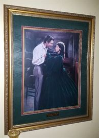 """C. Gehm 1995 Signed Litho """"You Can Drop The Moonlight and Magnolias Scarlett"""" # 254/3000"""
