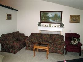 Front Room: Couch & Love Seat by Marshall-Fields Dayton's/Hudson's