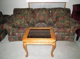 Front Room: Couch by Marshall-Fields Dayton's/Hudson's--Small Coffee Table