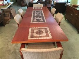 MADE IN DENMARK DINING ROOM TABLE W/ 2 LEAVES