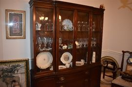 Gorgeous lighted China Cabinet! Don't miss the side items around the Cabinet!