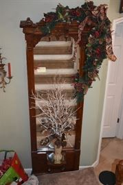 Beautifully Decorated for the holidays is this Gorgeous Victorian Pier Mirror