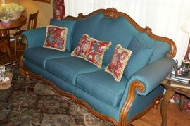 Victorian style parlor couch