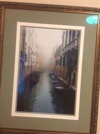 Custom framed Venice photo
