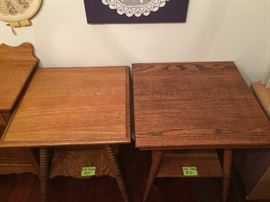 Top of two antique side tables