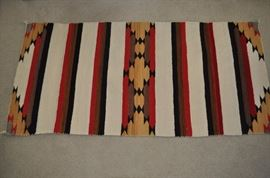 Navajo double saddle rug c. 1950s-1960s  Mint!