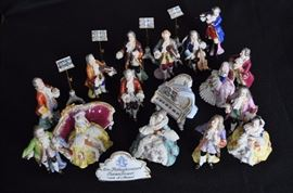 Dresden King Frederick set of orchestra figurines, 19 pieces