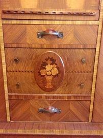 I laid wood detail on bedroom set