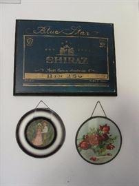 2 antique flue covers hanging
