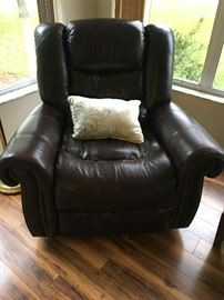 large leather swivel rocker recliner, pair