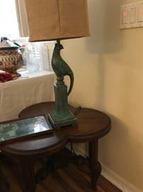 pheasant base lamp