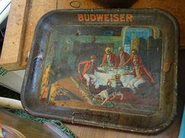 Vintage Budweiser Tray - Cool!