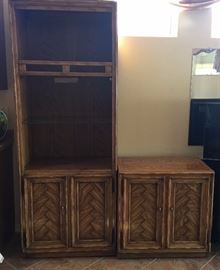 Drexel Display Cabinet w/ Small Storage Cabinet