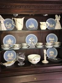 Wedgwood,Lenox! Waterford and cut glass