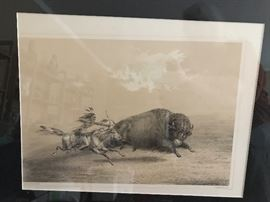 Rare George Catlin print, First Edition