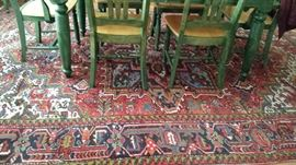 One of three coordinating hand woven rugs from Iran. Approximately 8 x 10