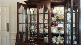Limoges, silver plate, milk glass, art glass, crystal.