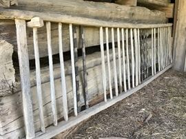 Huge hay rack...could make a great dried herb display, rustic linen display, etc.