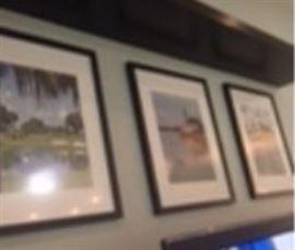3 pictures of Villages scenes from Sumter Landing  black frames