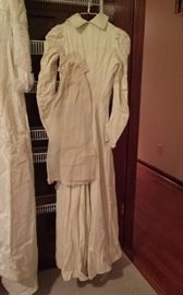 Wedding dress and Veil worn and constructed by family members in 1892 or 91. Museum quality. Best offer.