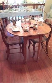 Smaller Pine round antique gateleg table. $80.