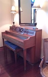 Beautiful Everett console piano and bench. Appraised at $2,000 in 2008. Sacrificed at $100.