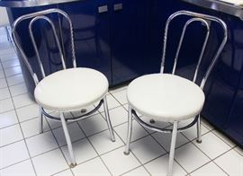 Original cushioned chairs from kitchen table.