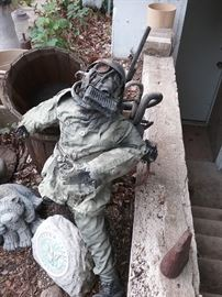 Unusual Metal Soldier Art