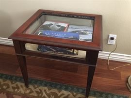 Cherry & Glass Display Table $ 25