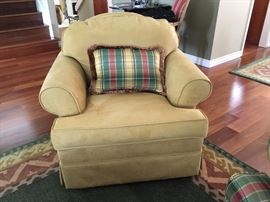 Faux Suede Swivel Arm Chair (set of 2 suede and 2 plaid) $ 50 each or $ 150 for all 4