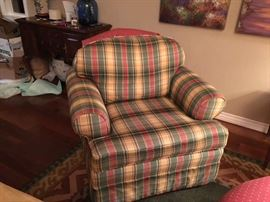 Plaid Chairs Swivel Arm Chair (set of 2 suede and 2 plaid) $ 50 each or $ 150 for all 4