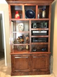 Custom Entertainment & Display Cabinet - Excellent condition, pull out shelves for A/V components, custom lighting, Excellent condition - like new $ 550 OBO