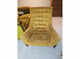 Super Awesome MidCentury Modern Chenille Chair