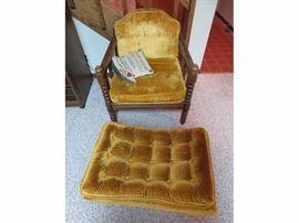 Vintage Modern Chenille Chair