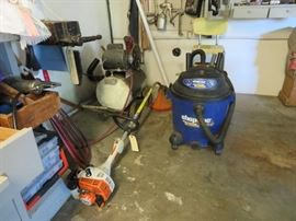ShopVac, Stihl Weed Wacker, Air Compressor