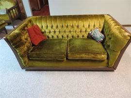 Vintage Modern Chenille Couch