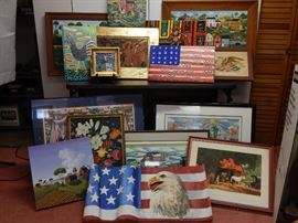 Just some of the folk art to be offered