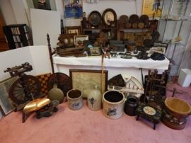 Just a small part of the original American primitives to be offered as part of our retirement downsizing sale
